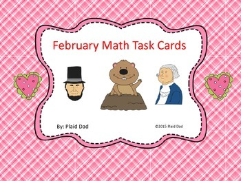 February Math Task Cards