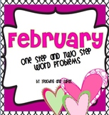 February Math Task Cards (2nd Grade One Step and Two Step