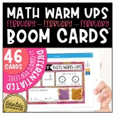 Math Warm Up February Boom Cards™ Digital Task Cards Diffe