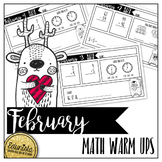 February Math Warm Ups - Differentiated for 2 levels!