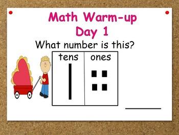 February Kindergarten Math Warm-ups