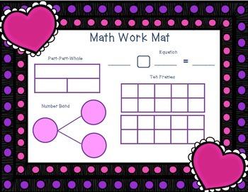 February Math Work Mat