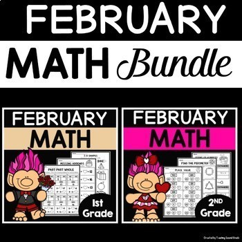 Math Worksheets for 1st and 2nd Grade |Bundle