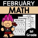 February Math Worksheets for 1st Grade