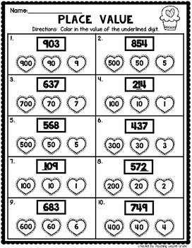 February Math Worksheets for 2nd Grade