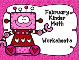 February Math Worksheets for Kindergarten