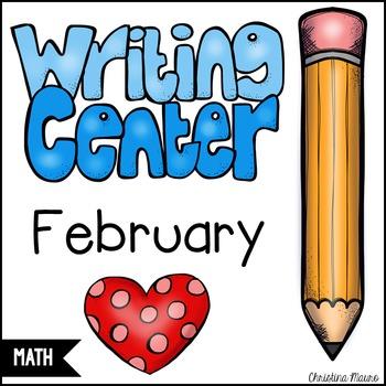 February Math Writing Station