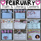 February Math and Literacy Centers {CCSS}