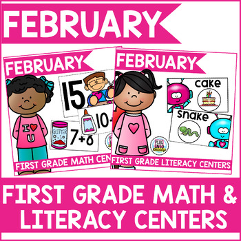 February Math and Literacy Centers (Bundled)