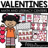February Centers for Kindergarten Math and Literacy