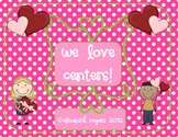 February Math and Literacy Centers - Valentine's Day Theme