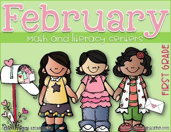 February Math and Literacy Centers {first grade}