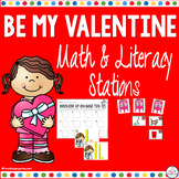 February Math and Literacy Centers for Kindergarten