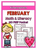 {Kindergarten} February Math and Literacy