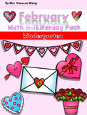 Valentine's Day Activities for Kindergarten Math and Literacy No Prep Printables