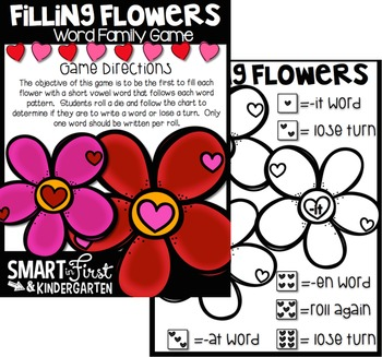 February Math and Literacy Print and Go Games