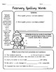 February Math and Literacy Printables for Upper Elementary - No Prep