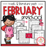 "February Math and Literature Preschool ""No Prep"""