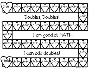 February Math for First Grade- Worksheets, Center Activities, and Games