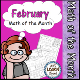 February Math Worksheets,  Valentine's Day Math,  Daily Math February Activities