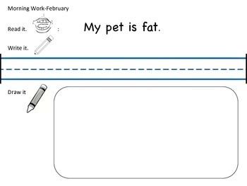 February - May Kindergarten Morning Work-Common Core aligned