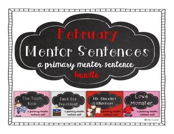 February Mentor Sentence Bundle