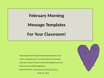 February Message Templates!