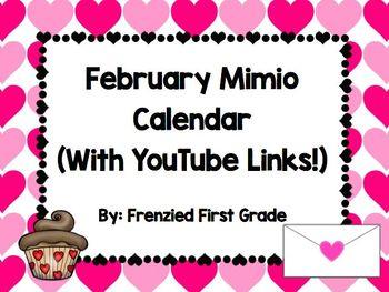 February Mimio Calendar