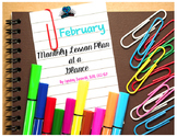 February Month At A Glance Lesson Plan