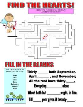 February Month Game Paper