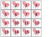 February Month themed Classroom Calendar Dates. Homeschool Bulletin Board Calen