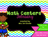 February Monthly Math Centers