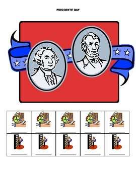 February Monthly Name Game for Articulation and Language:  Presidents' Day