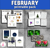 February Monthly Printable Packet Montessori