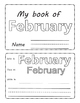 February . Months of the Year. Flipbook