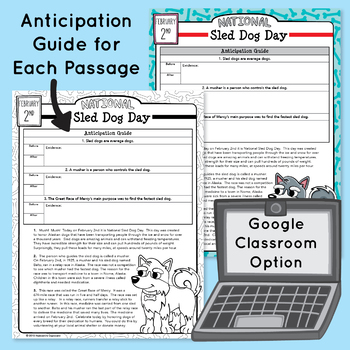 February 4th - 6th Grade Morning Work - Daily Evidence Based Reading and Writing