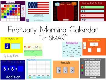 February Morning Calendar SMART