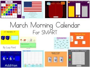 March Morning Calendar SMART