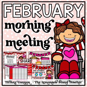 February Morning Meeting and Calendar First Grade