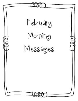 February Morning Message Book