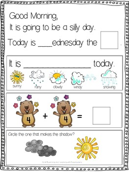 February Morning Message Math Time