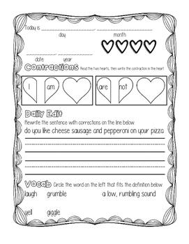 February Morning Work 2nd Grade, 1st Grade, 3rd Grade