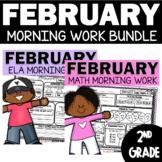 February Morning Work Bundle | February Math | February Language
