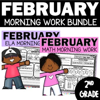Spiral Math and Language Review February | 2nd Grade