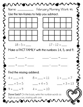 February Morning Work - CC Math Skills