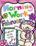 February Morning Work-CCSS Aligned