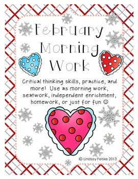 February Morning Work- Critical Thinking