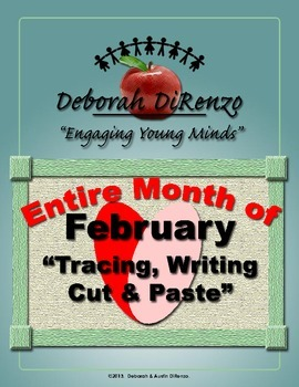 February Morning Work - Entire month of word tracing, writing, cut and paste.