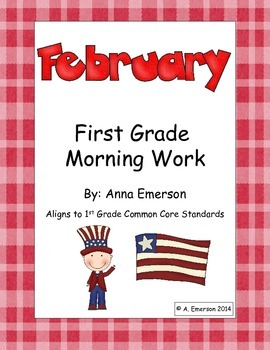 February Morning Work First Grade Common Core Standards