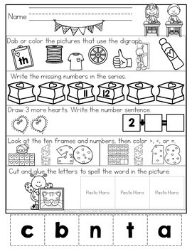 February Morning Work {Kindergarten}